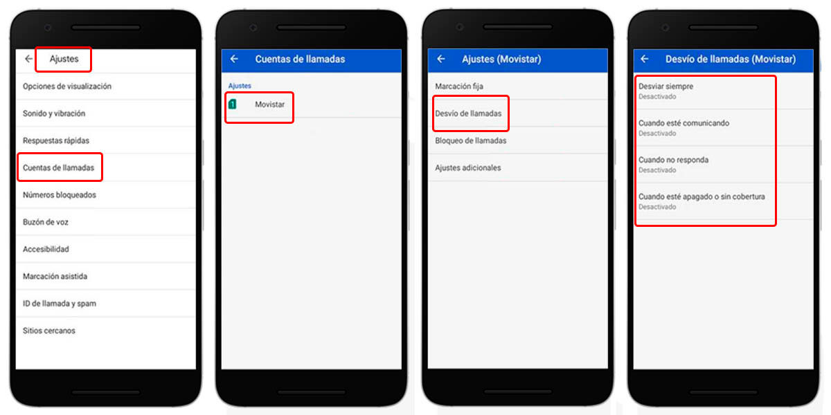 cómo desactivar el desvío de llamadas en tu móvil android