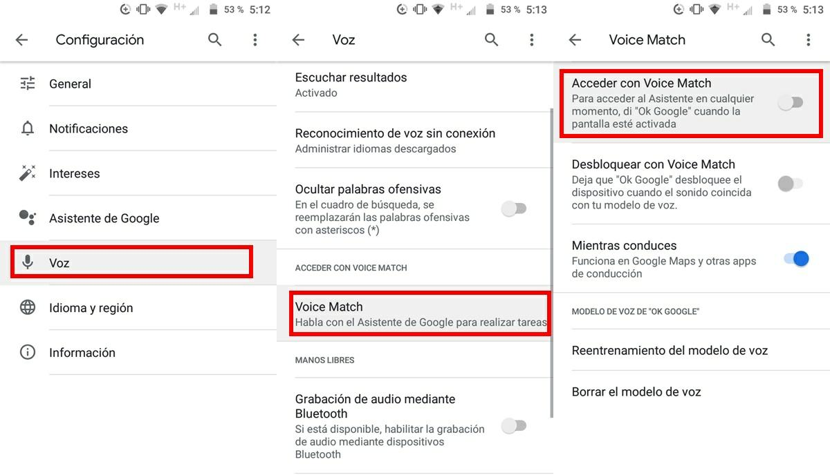 como desactivar ok google android 2