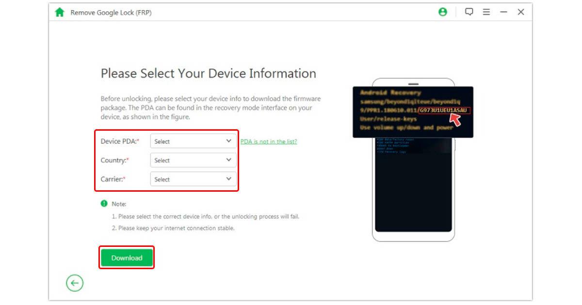 cómo desbloquear Factory Reset Protection de Android con iMyFone LockWiper