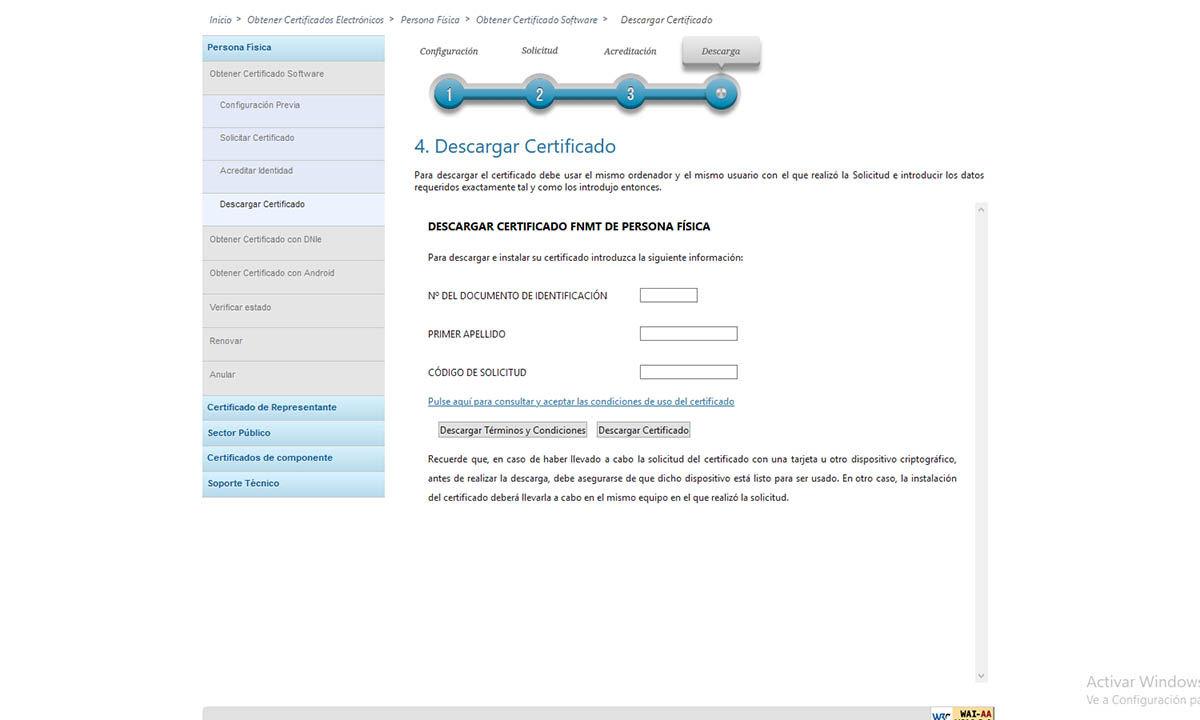 cómo descargar certificado digital españaa en windows
