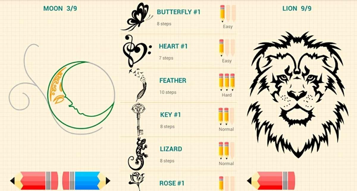 como dibujar tatuajes app