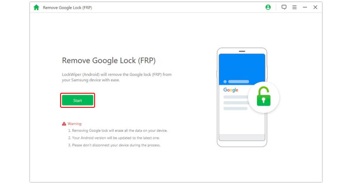 cómo eliminar Factory Reset Protection de Android con iMyFone LockWiper