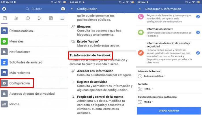 omo eliminar cuenta en facebook