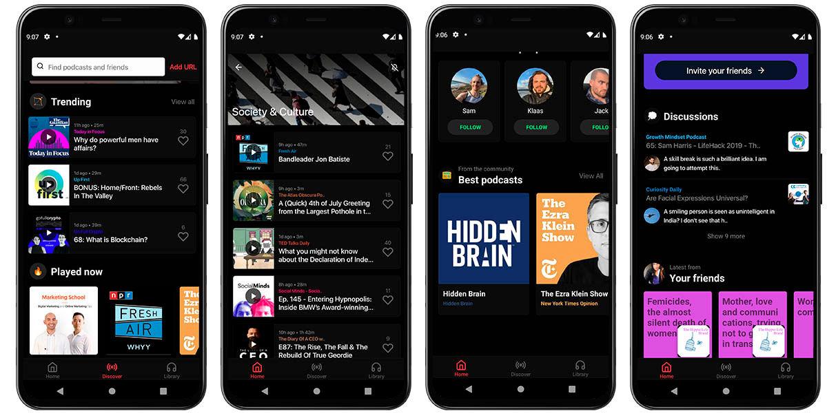 cómo encontrar podcast reason android