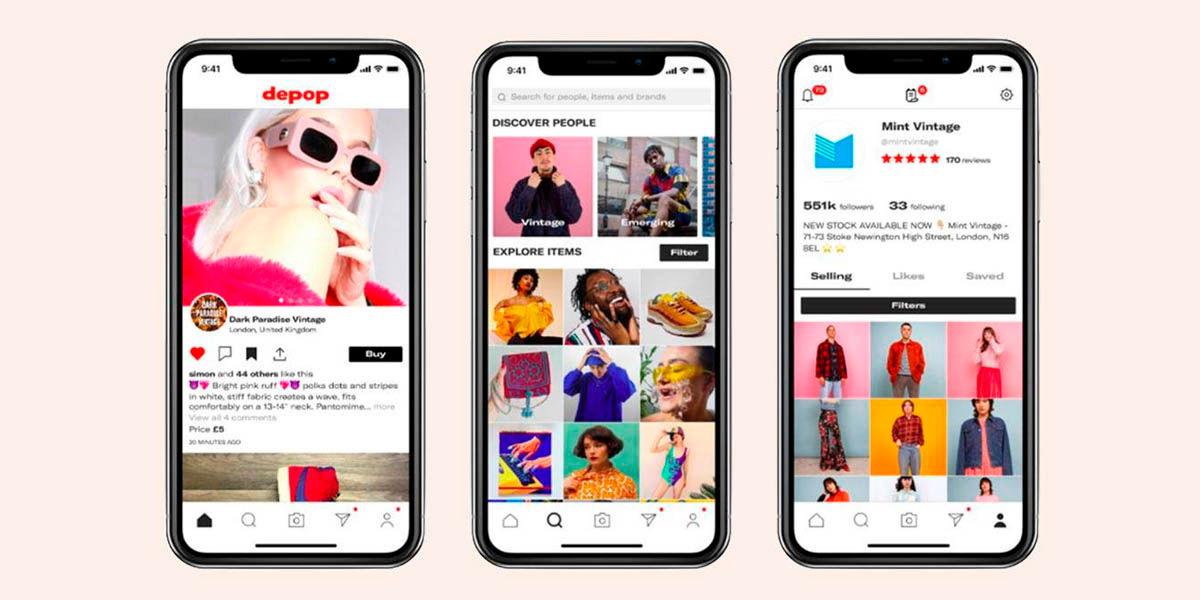cómo es depop vende compra ropa usada android