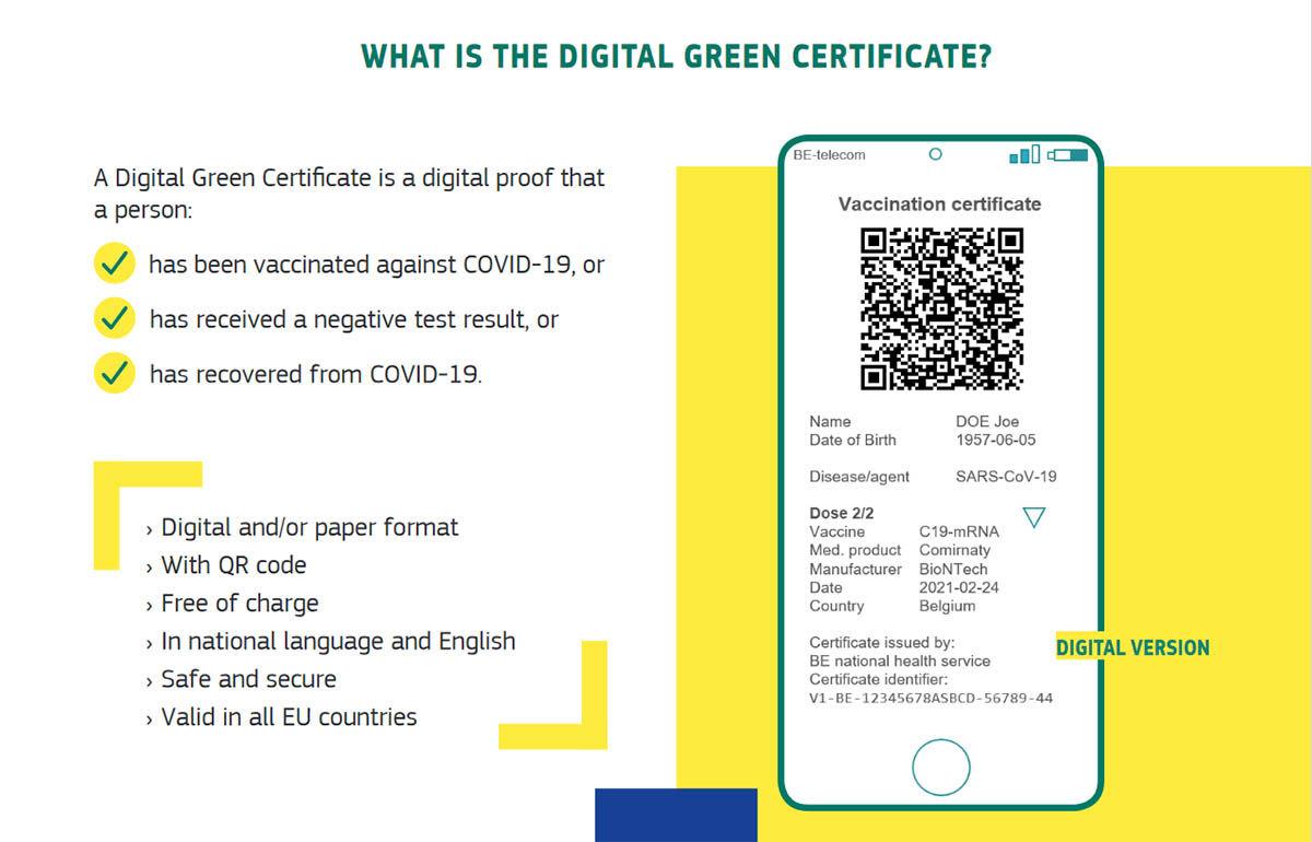 cómo es el certificado verde digital del covid-19