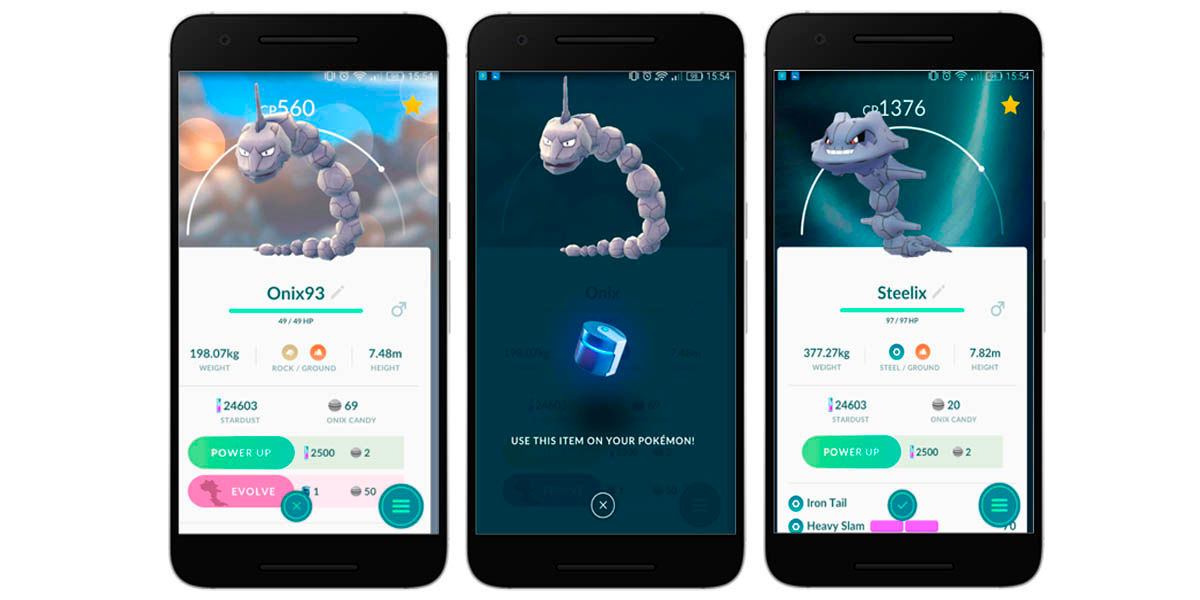 cómo evolucionar onix en steelix pokemon go