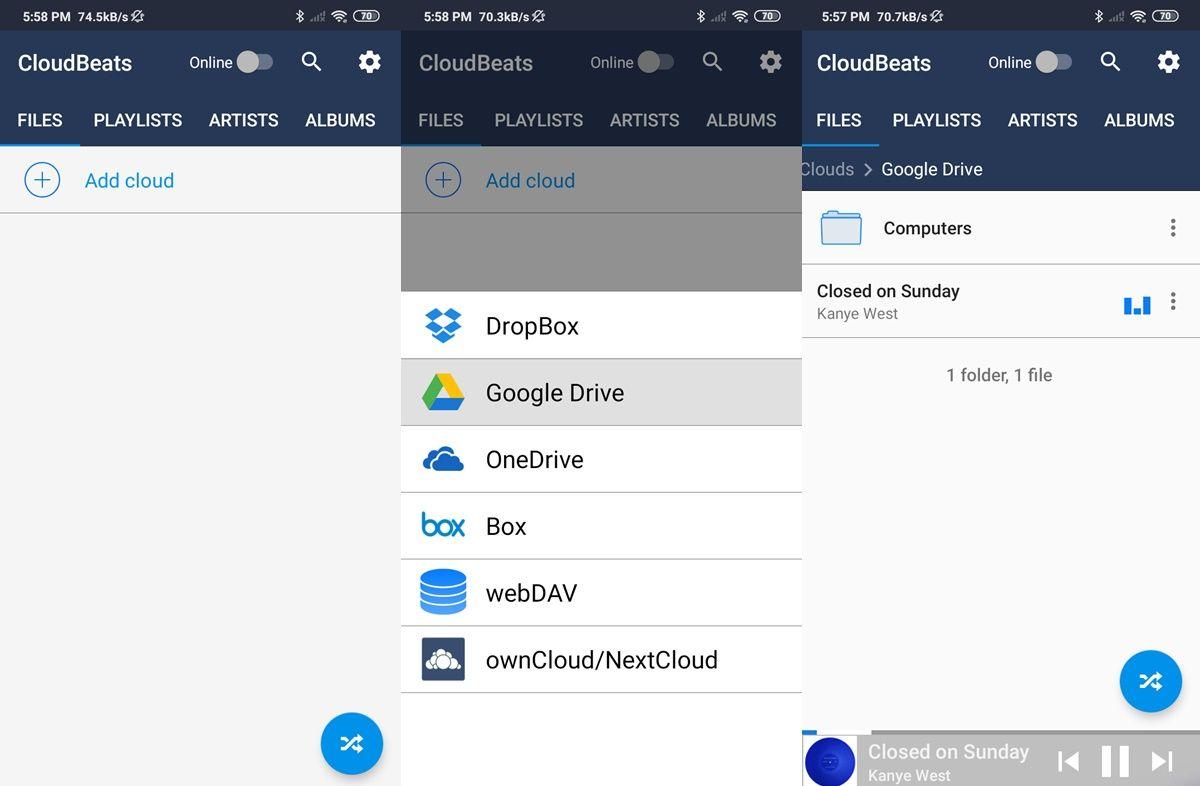 como hacer streaming con cloudbeats android