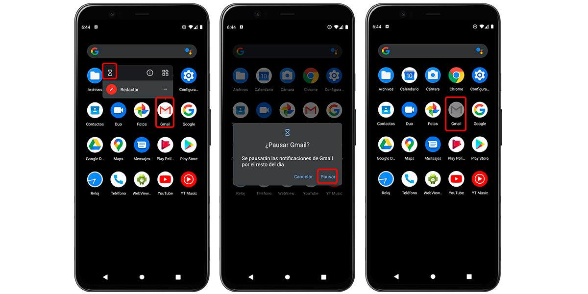 cómo pausar aplicaciones temporalmente android