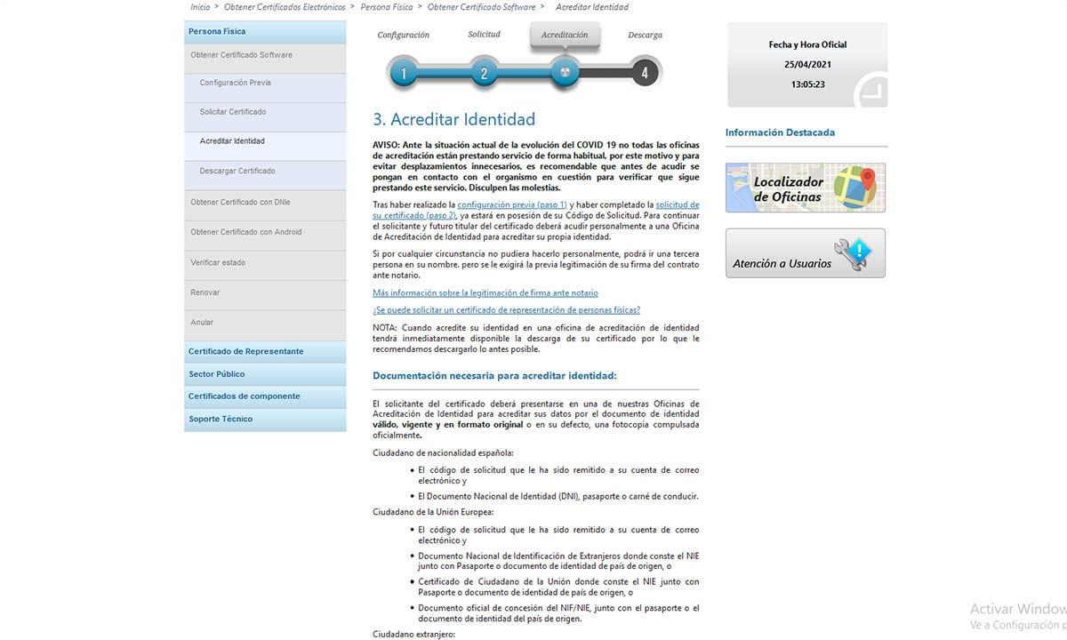 cómo pedir el certificado digital desde PC