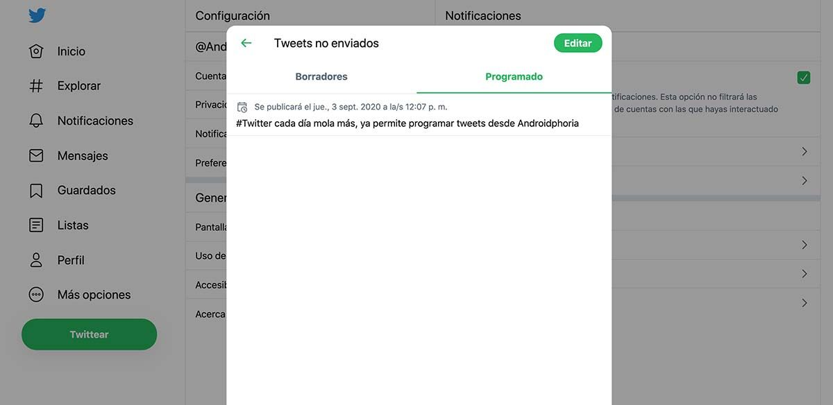 como programar tweets en twitter tutorial