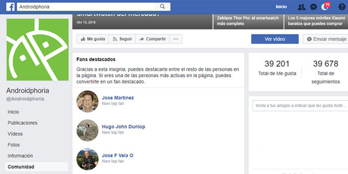 como ser fan destacado insignia facebook