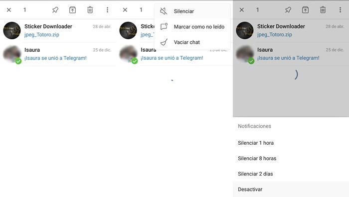 como silenciar un chat archivado en telegram