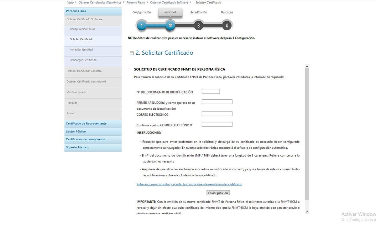cómo solicitar certificado digital españa desde el ordenador