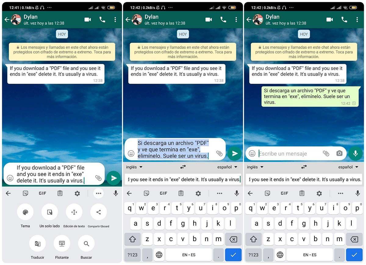 como traducir un mensaje de whatsapp con gboard en simples pasos
