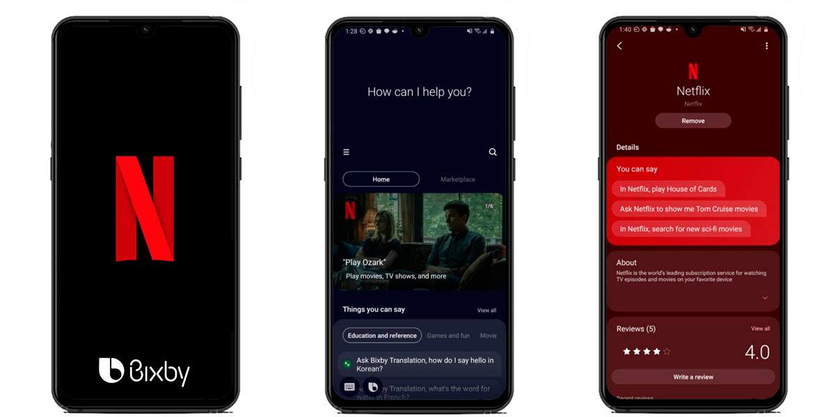 cómo usar bixby en netflix android