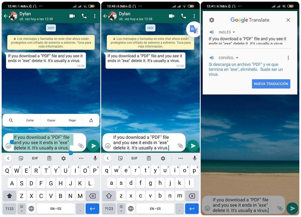 como usar el traductor de google automaticamente con cualquier app