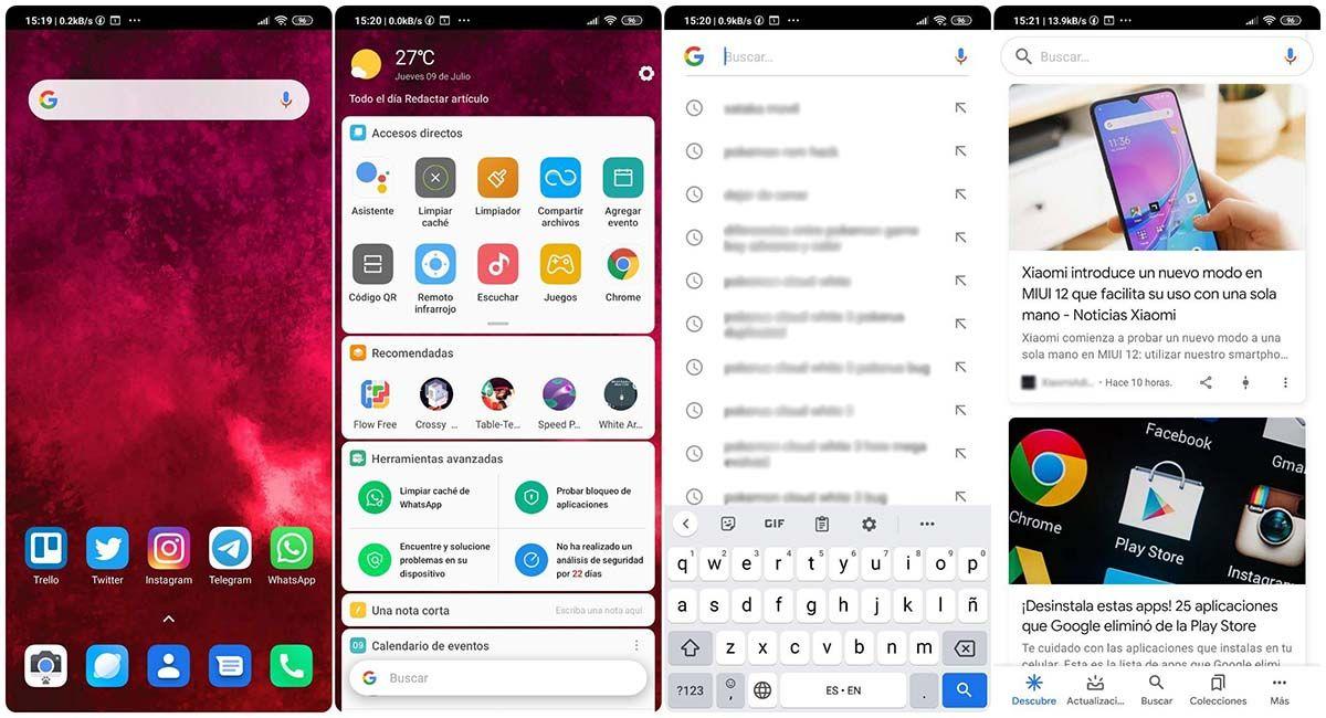 como usar google discover desde boveda de aplicaciones xiaomi android miui