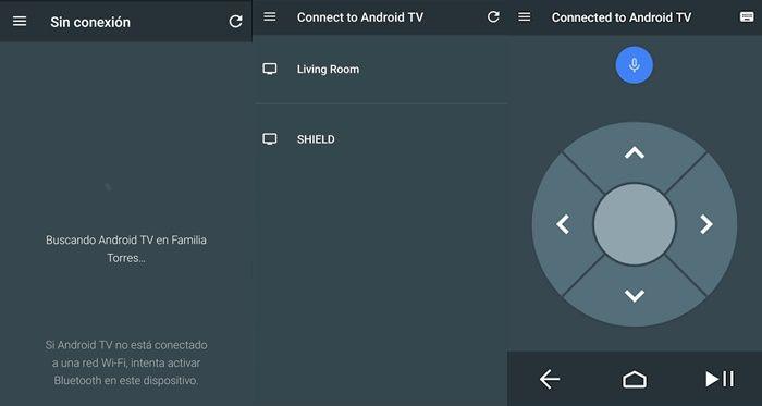 como usar la aplicacion de control remoto para Android TV