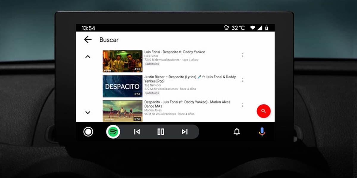 cómo ver youtube en android auto