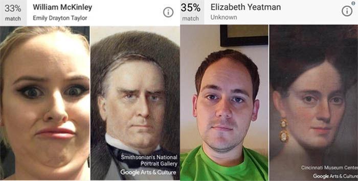 comparacion de selfies en google Arts y culture