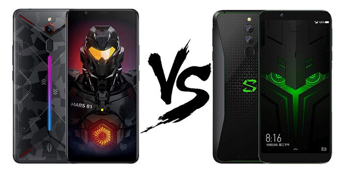 comparativa Nubia Red Magic Mars vs Black Shark Helo