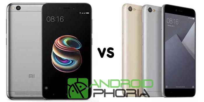 comparativa Xiaomi Redmi Y1 Lite vs Redmi 5A