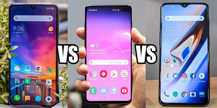 comparativa Xiaomi mi 9 vs Galaxy S10 vs OnePlus 6T