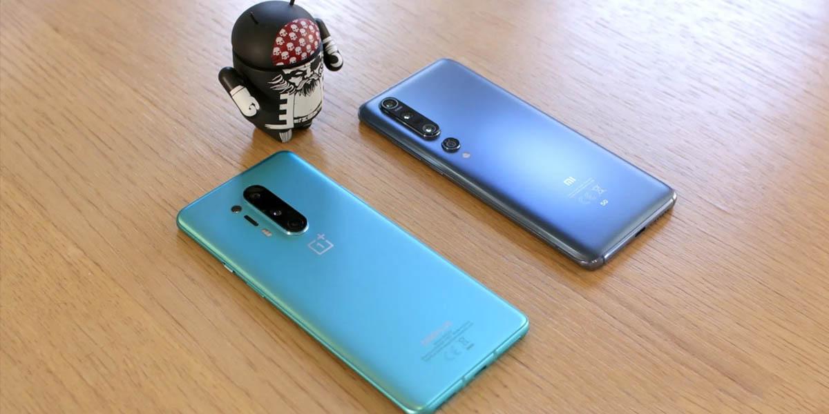 comparativa diseño OnePlus 8 Pro y Xiaomi Mi 10 Pro