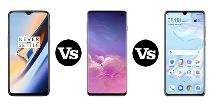 comparativa oneplus 7 galaxy s10 huawei p30