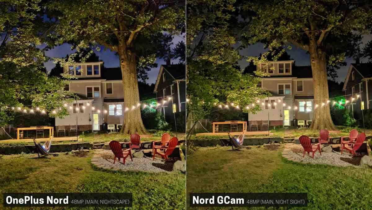 comparativa oneplus nord con google camera