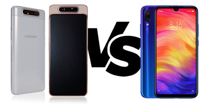 comparativa samsung galaxy a80 vs redmi note 7
