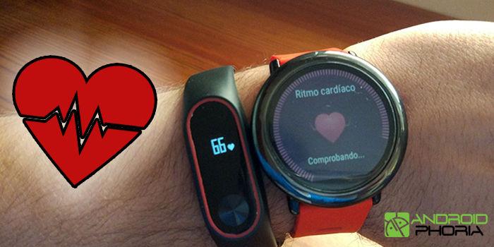 comparativa sensores ritmo cardiaco amazfit pace vs xiaomi band 2