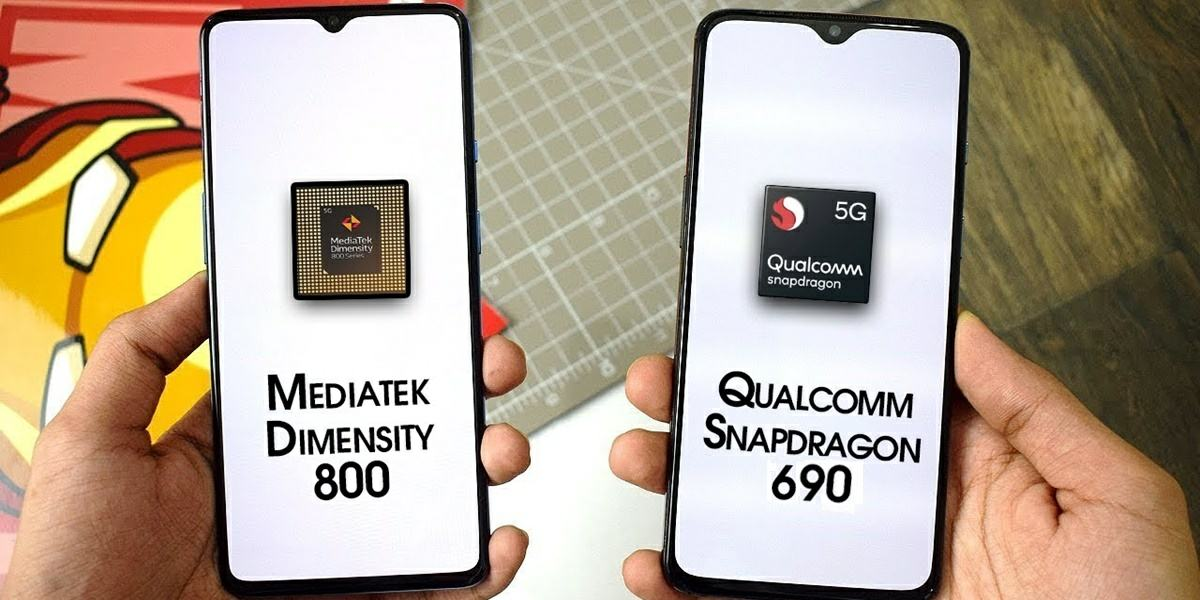comparativa de procesadores qualcomm snapdragon 690 y mediatek dimensity 800
