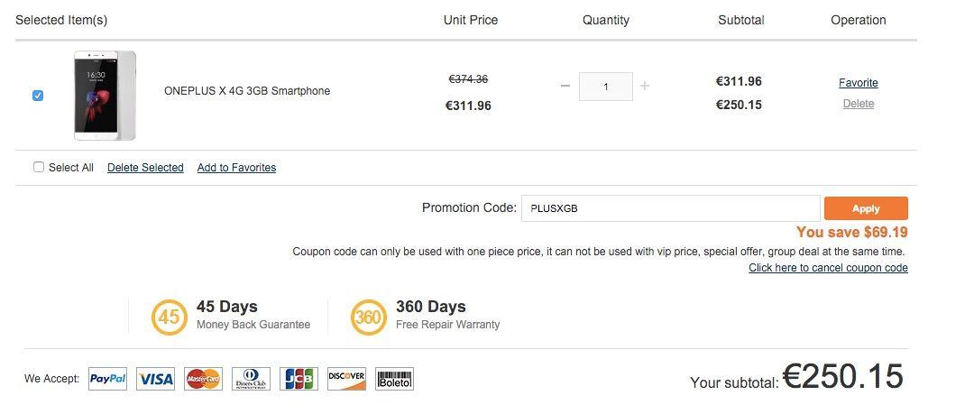 OnePlus X mejor precio