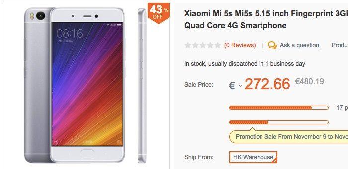 Xiaomi Mi 5s oferta