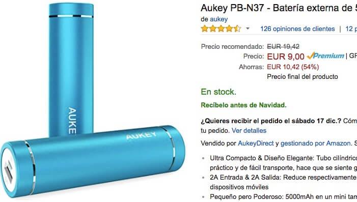 comprar-bateria-aukey-5000-mah