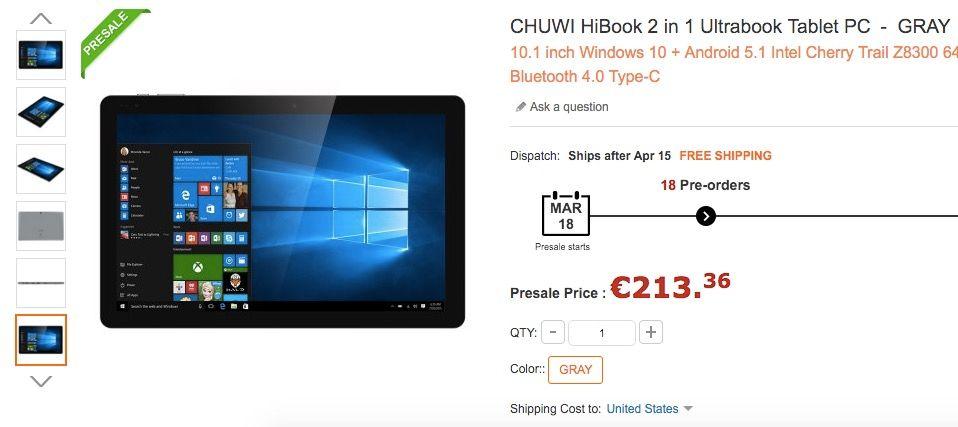 comprar chuwi hibook