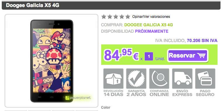 comprar-doogee-galicia-x5-4g