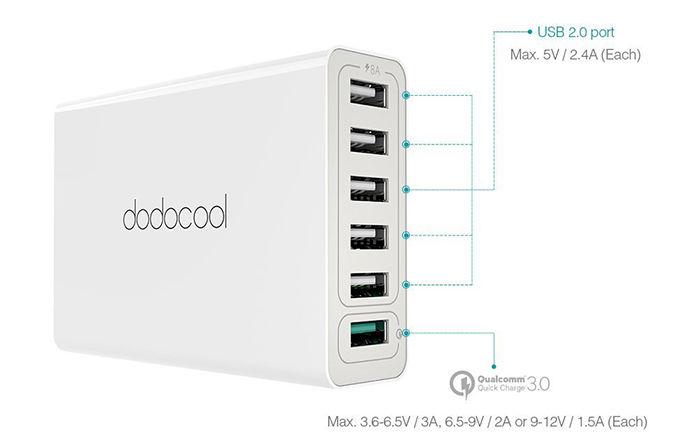 Comprar estación de carga USB cupón descuento Amazon