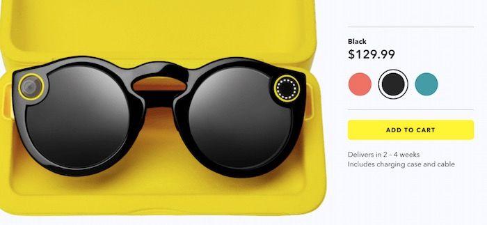 comprar gafas snapchat
