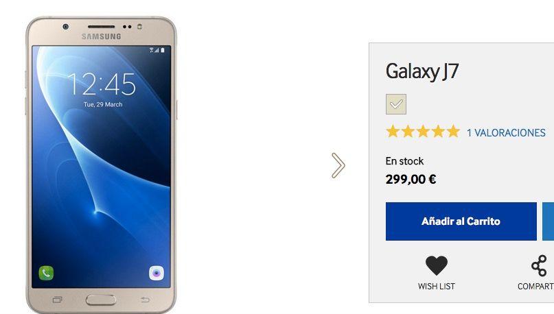 comprar galaxy j7 2016