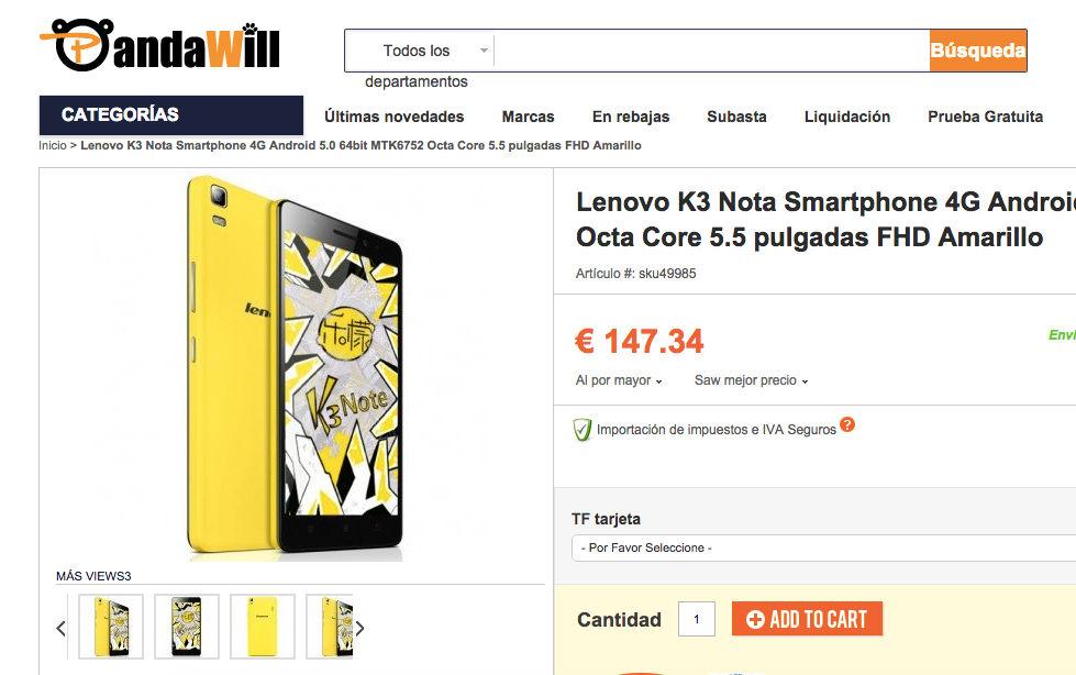 comprar-lenovo-k3-note-amarillo