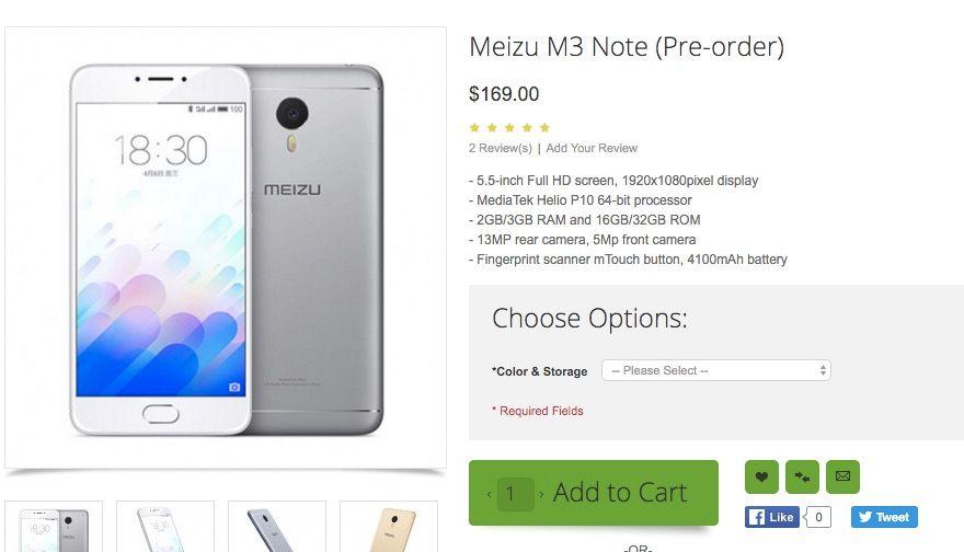 comprar meizu m3 note