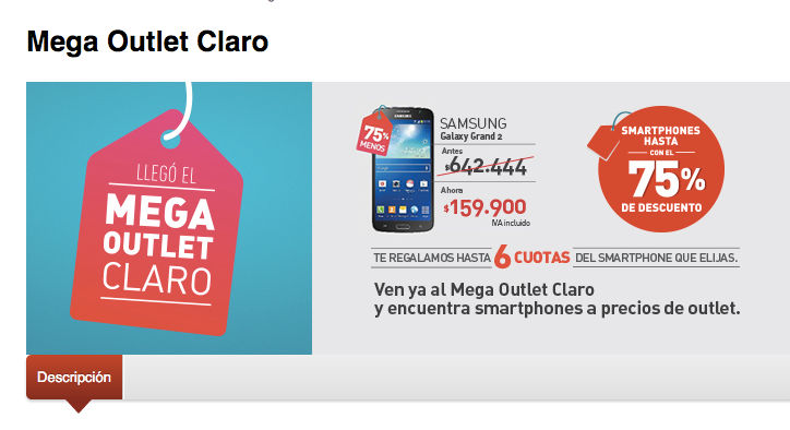 comprar movil mas barato en outlet