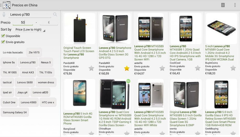 comprar moviles chinos barato android