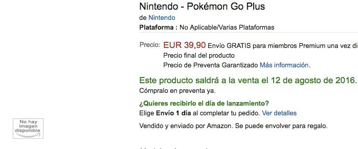 comprar pokemon go plus amazon