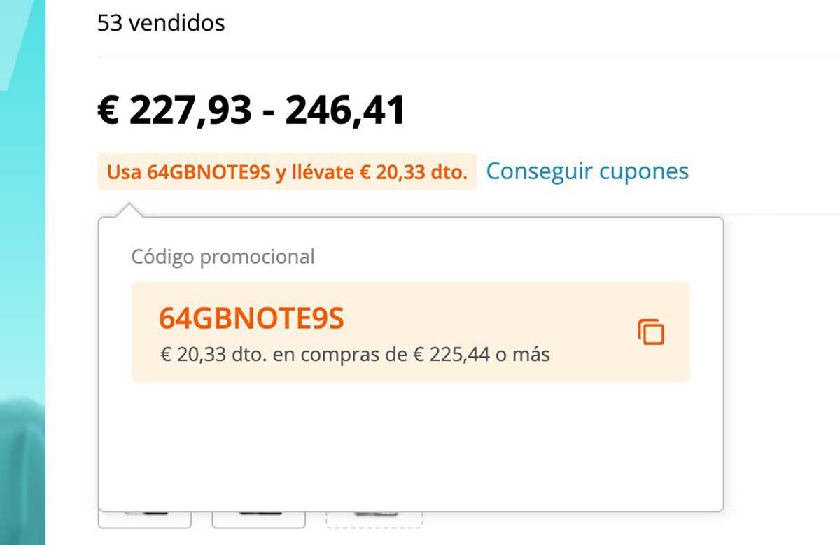 comprar redmi note 9s cupones de descuento 165 euros aliexpress españa