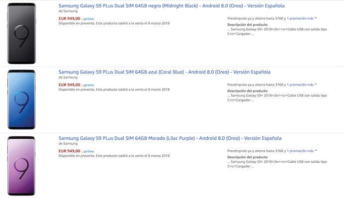 comprar samsung galaxy s9 plus