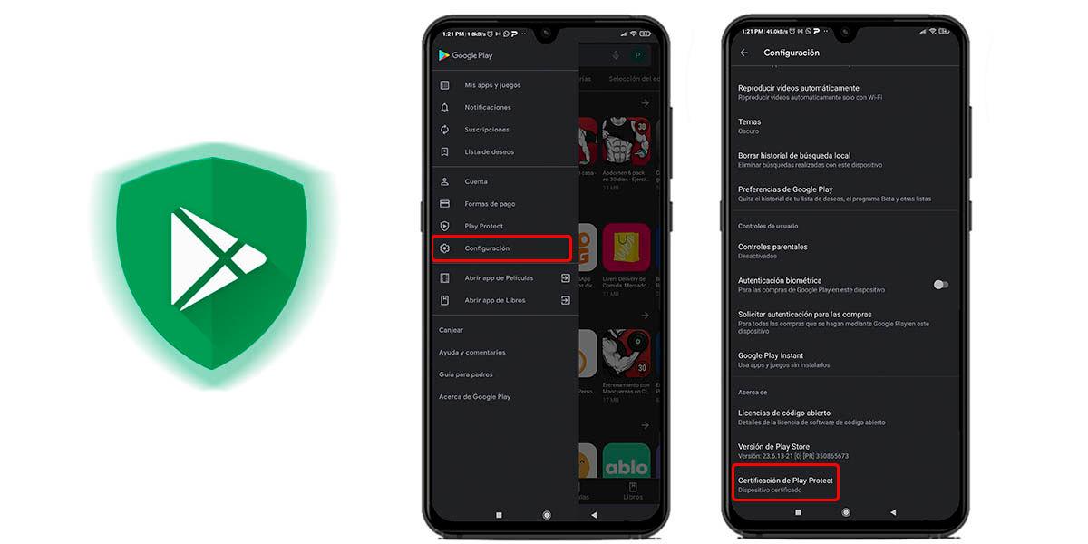 comprobar certificación google android